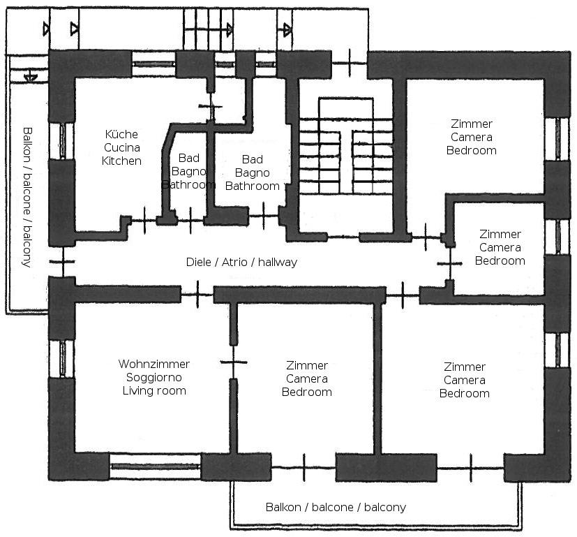 Appartamenti dotati di ogni comfort con parcheggio e for Piccole planimetrie di un appartamento con una camera da letto